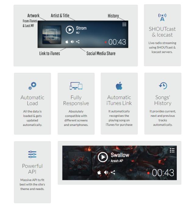 SHOUTcast & Icecast Radio Player with iTunes & Last FM